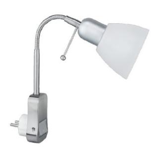 Eine klassische Stecklampe mit flexiblem Arm
